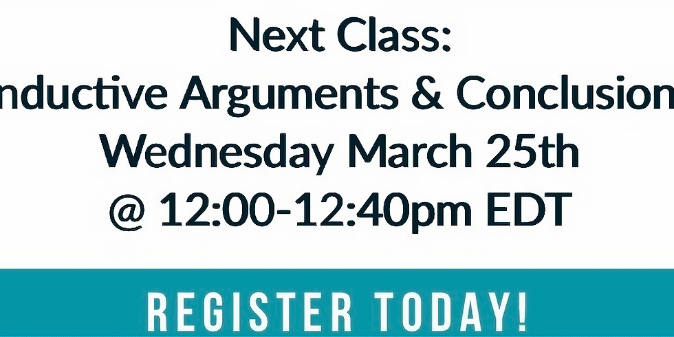 LSAT Boss Class 2: Inductive Arguments and Conclusions