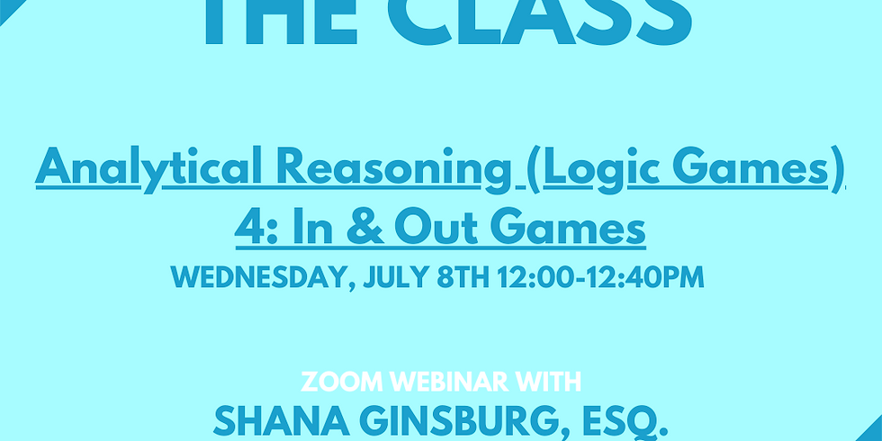 Analytical Reasoning (Logic Games) 4: In & Out Games