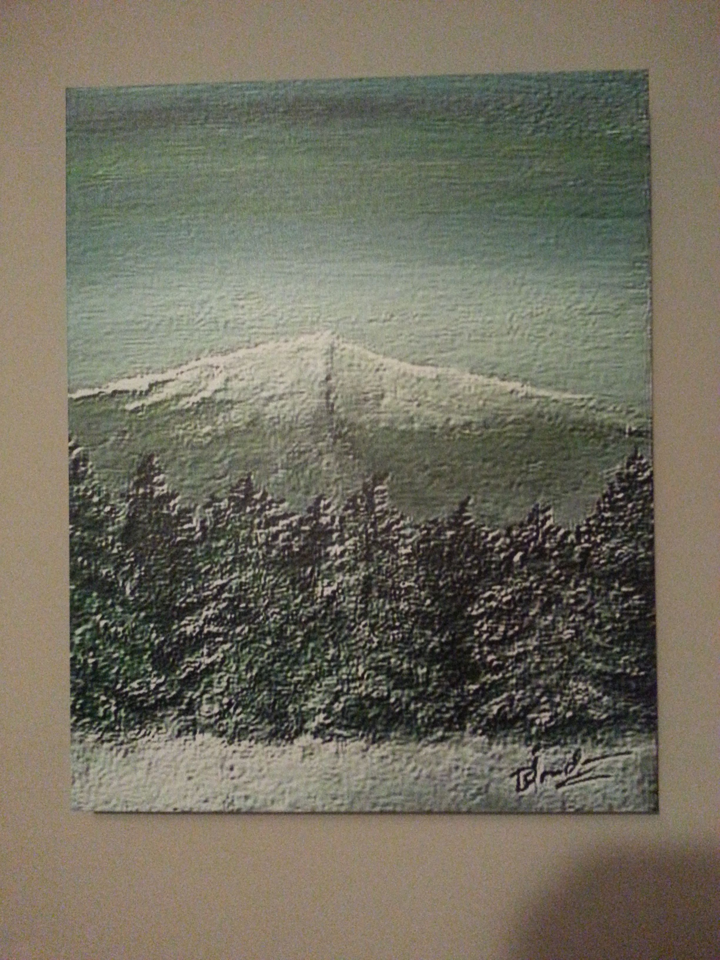 blondin_snowmountain_on canvas