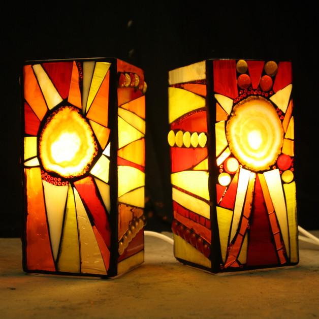 elektrické lampy s achátovým řezem