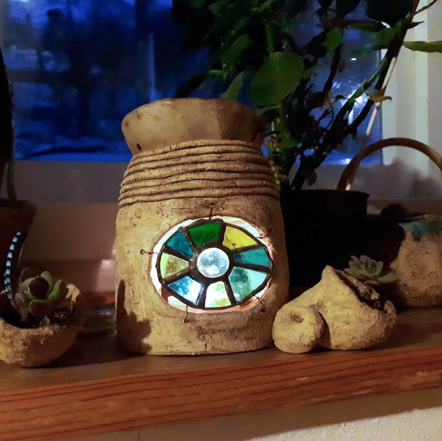 aromalampa s Tiffany vitráží