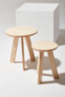 Seria Stolików kawowych i stołków TONDO