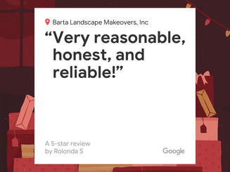 Customer review for Barta Landscape Makeovers