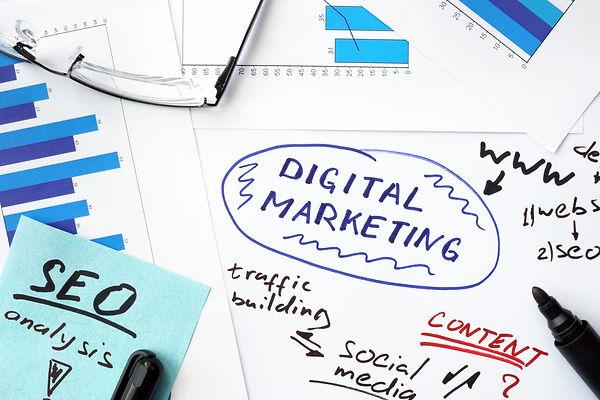 Illustration of Digital Marketing Notes and Ideas