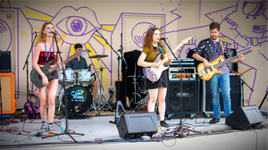 Anja and her band at the 2019 Space Coast Music Festival