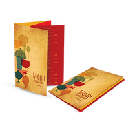 Example of printed products - Restaurant Menu