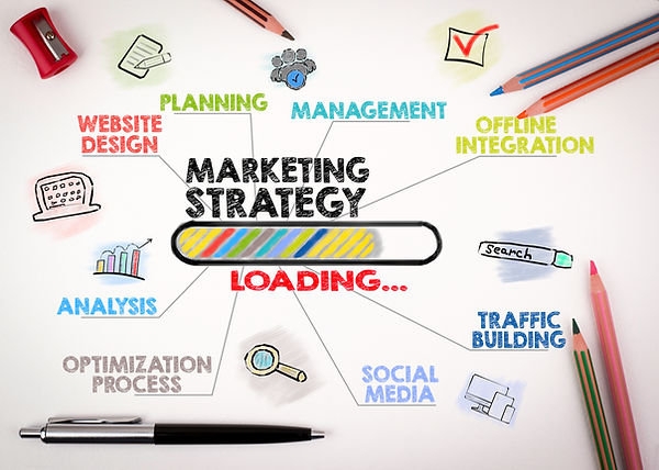 Illustration of elements used in a marketing strategy
