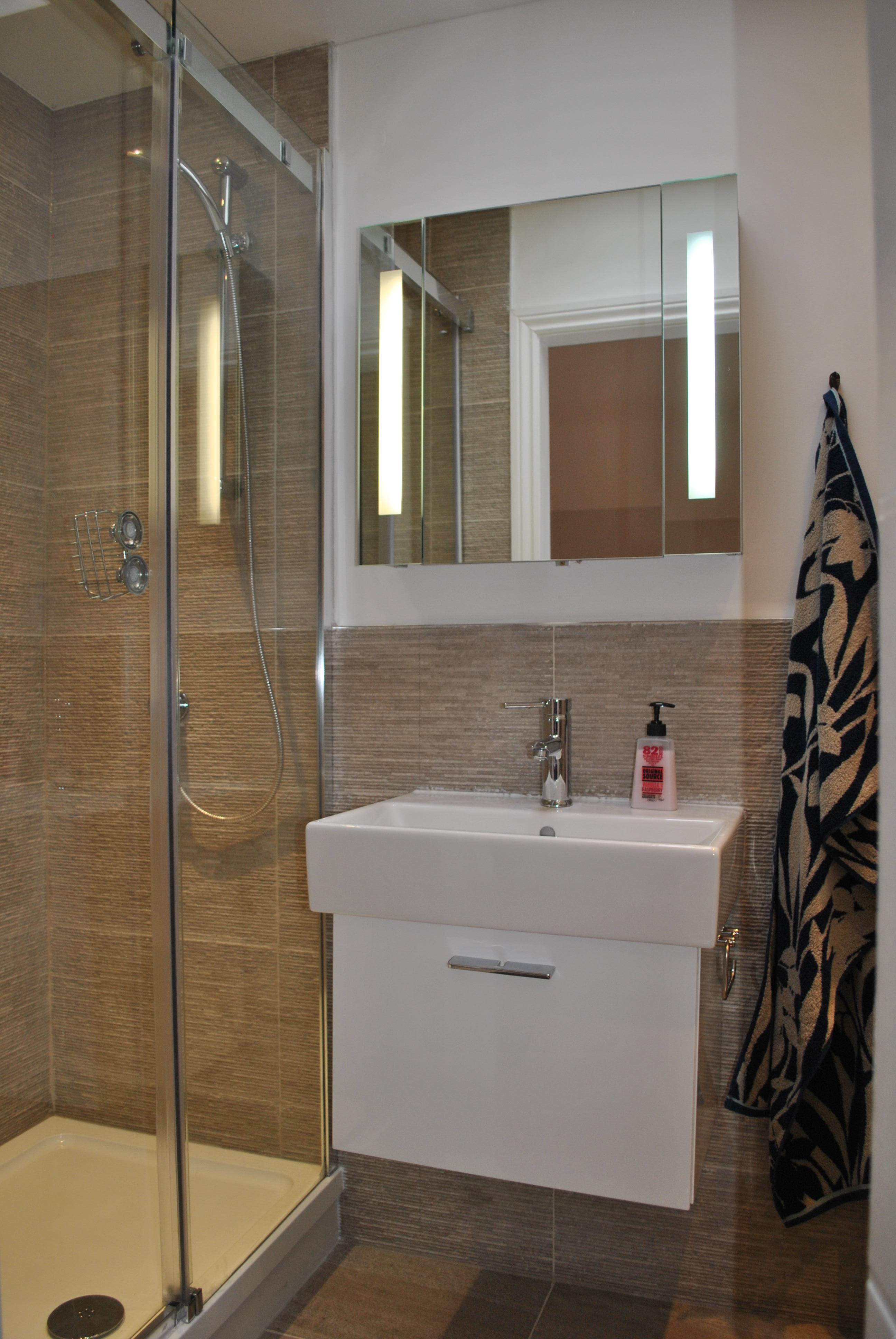 En suite badeværelse