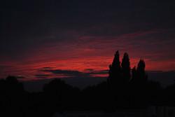 Solnedgang fra altan