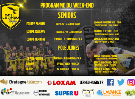 Programme du Week-end du 10 et 11 Octobre