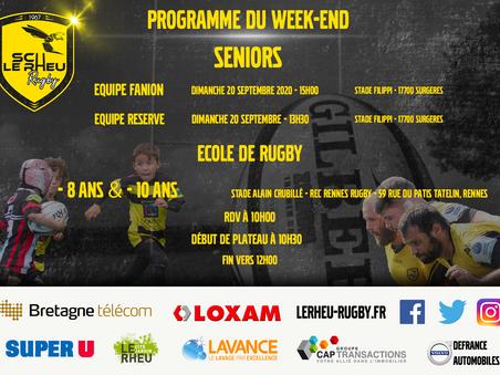 Programme du Week-end 19 et 20 septembre