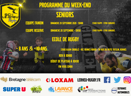 Programme du Week-end 19 et 20 septembre