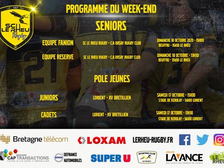 Programme du week-end du 17 et 18 octobre