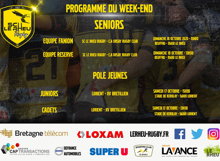 Programme du week-end du 17 et 18 octobre