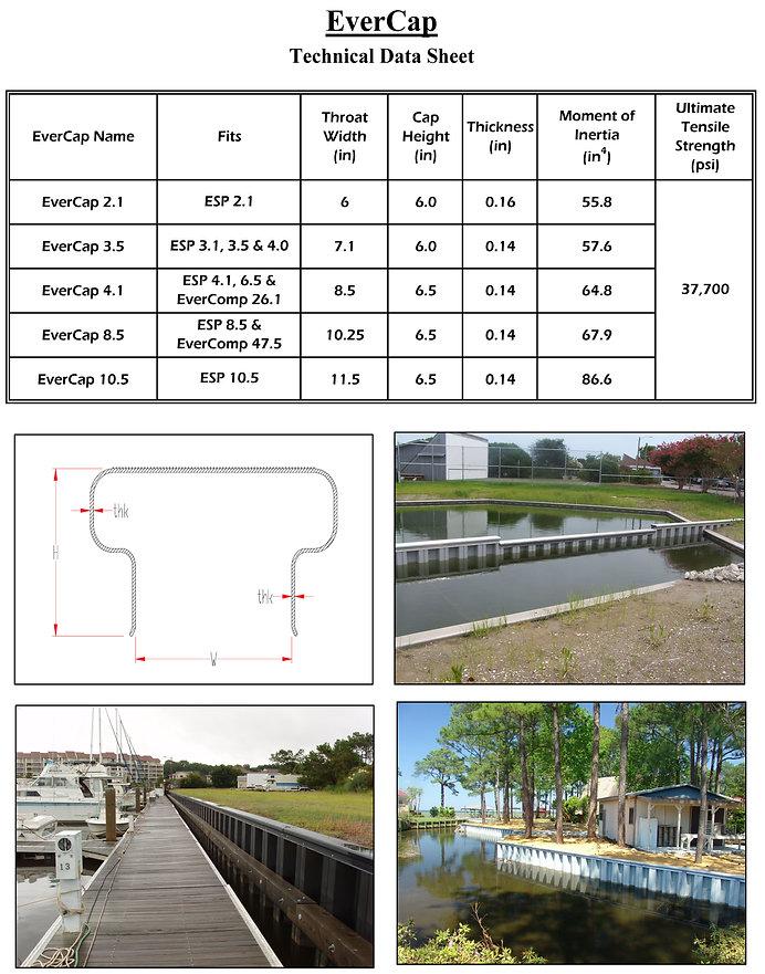 Everlast Seawall Data Sheet