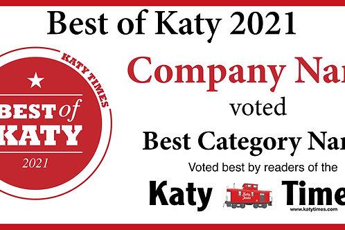 Best of Katy Winner Banner