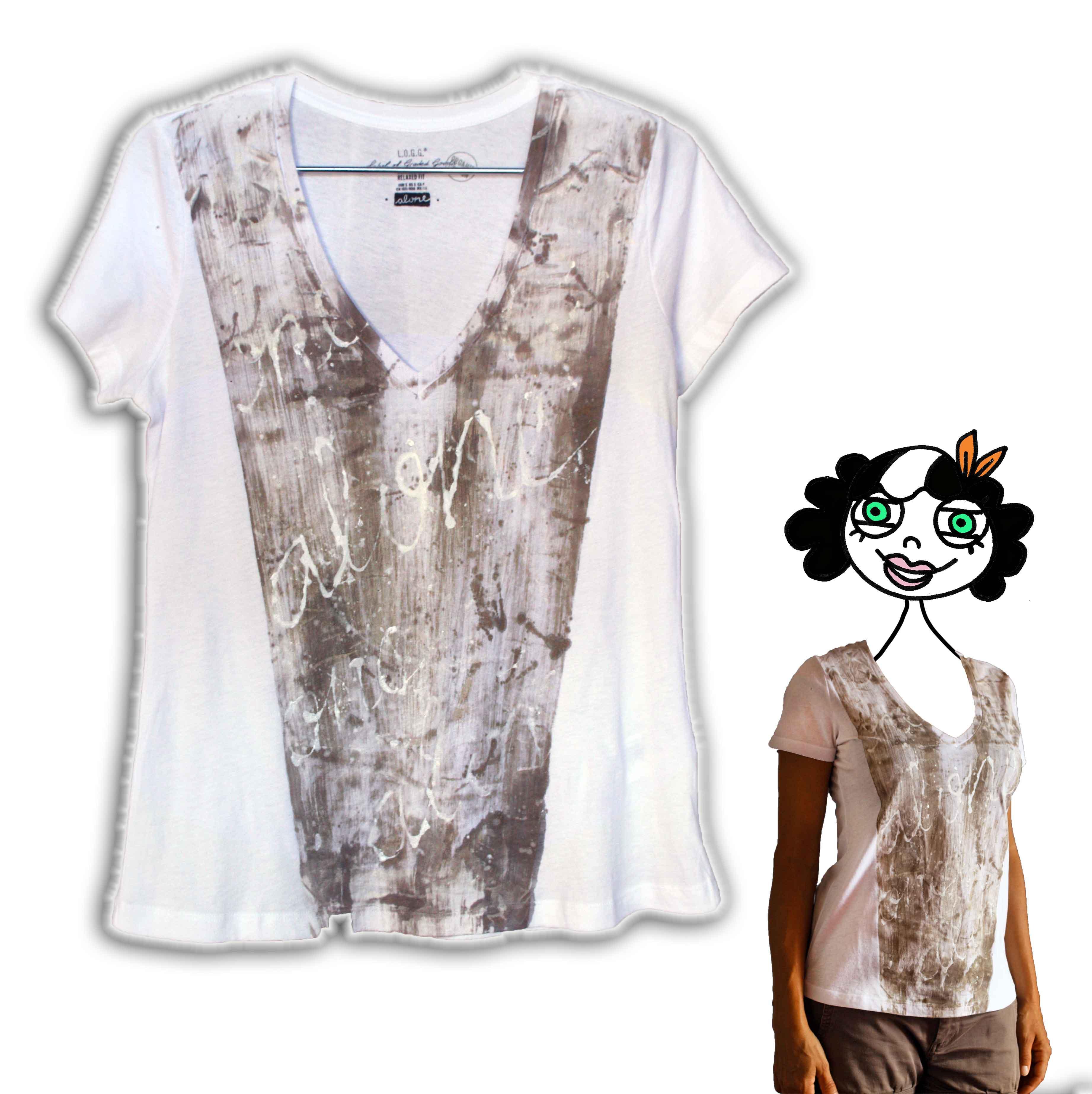 dipinto a mano su t-shirt