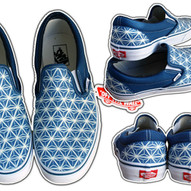 Vans pattern con talloni personalizzati