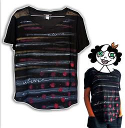 modelli t-shirt da donna dipinti