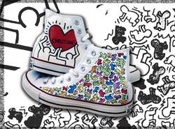 scarpe alte dipinte a mano