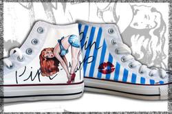 scarpe converse dipinte a mano