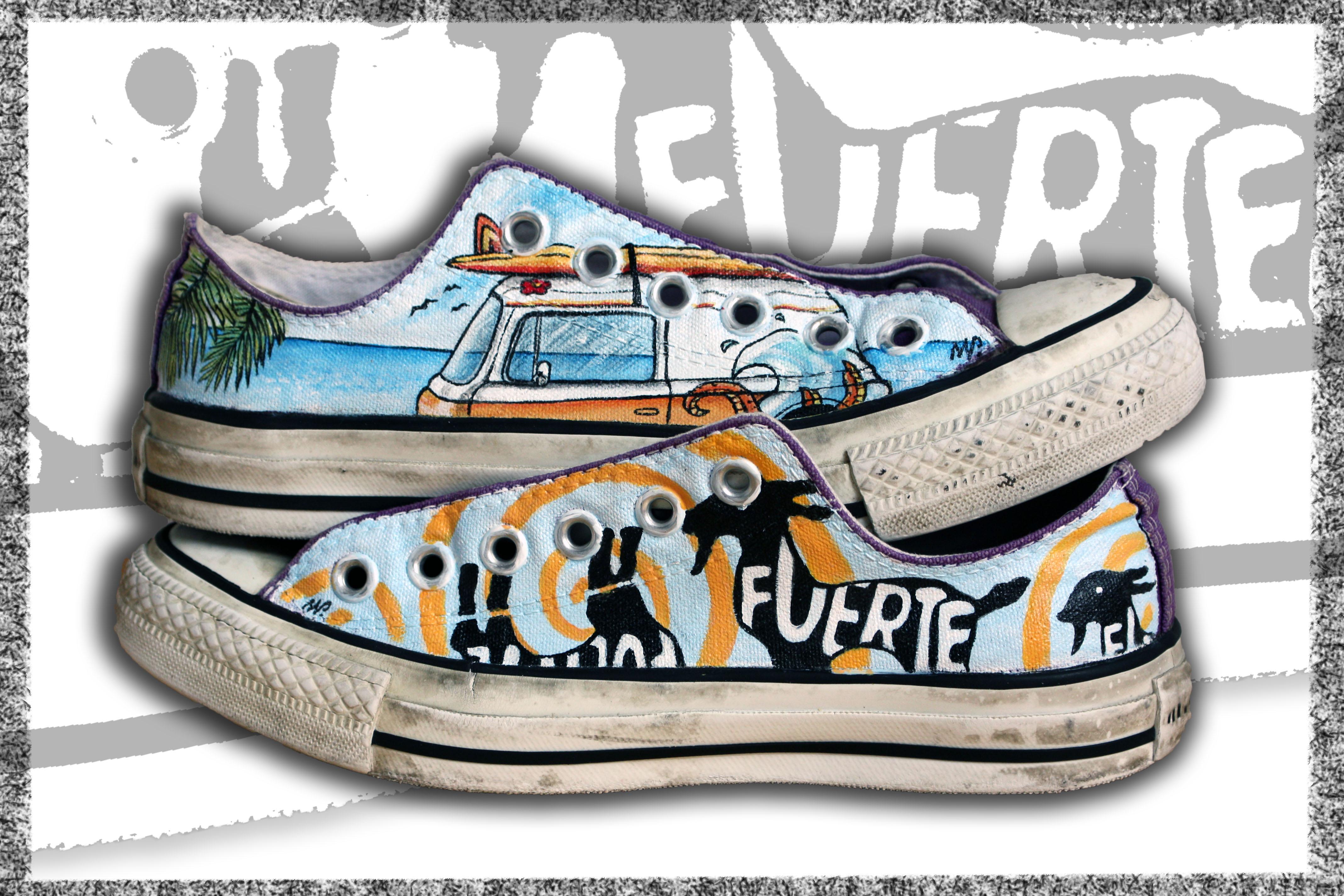 scarpe basse dipinte