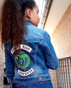 giubbino jeans personalizzato south side serpents