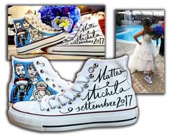 Sposa con scarpe personalizzate