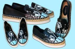 Personalizzazione su scarpe in pelle