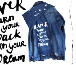 giubbino jeans personalizzato