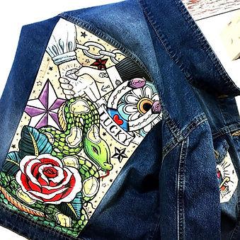 Giubbino in jeans personalizzato