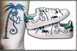 dipinto a mano su Adidas