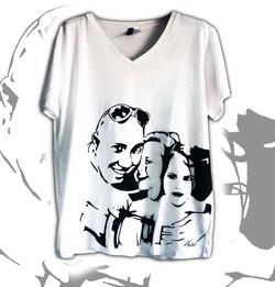 t-shirt personalizzata con ritratti