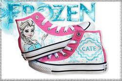 all star bambina dipinte con Frozen