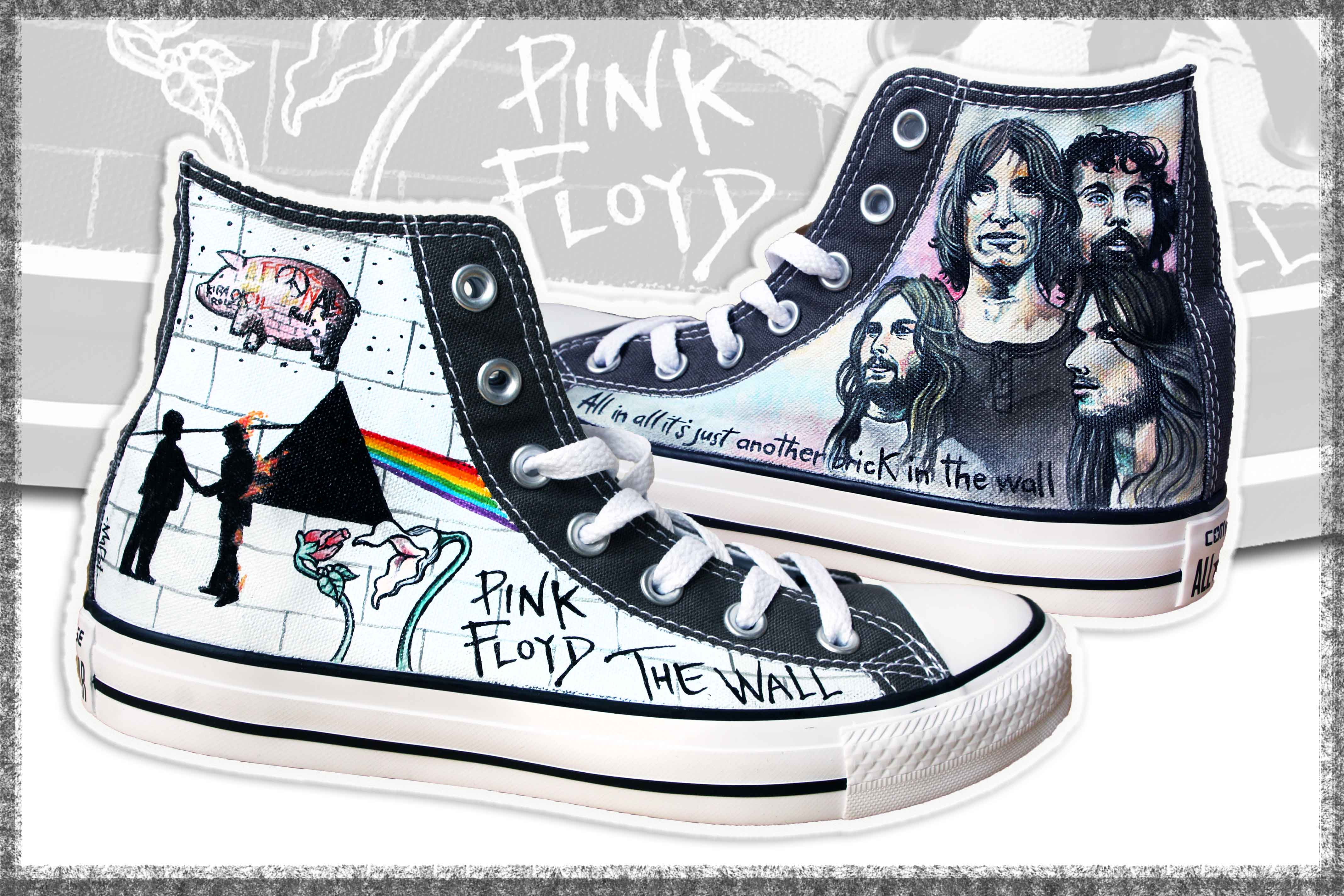 scarpe personalizzate Pink Floyd