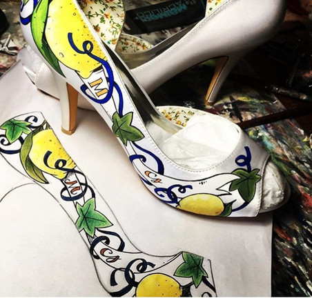 Bozzetto a colori per Scarpe da sposa
