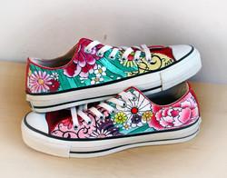 scarpe personalizzate con fiori