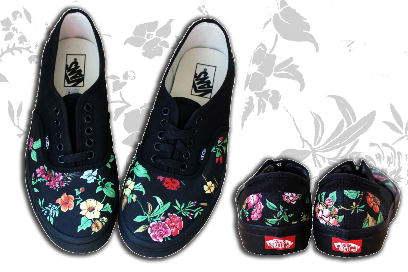 Vans floreali personalizzate anche su talloni d460eae7e92