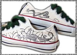 scarpe basse con geco