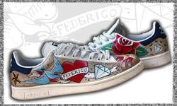 scarpe ADIDAS dipinte a mano