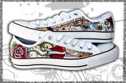 scarpe converse ox dipinte a mano