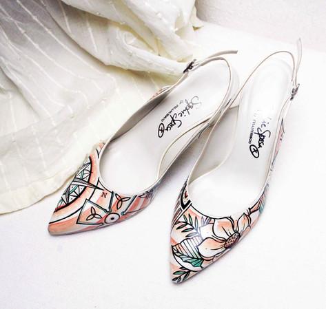Scarpe eleganti da sposa personalizzate