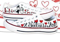 scarpe Converse matrimonio