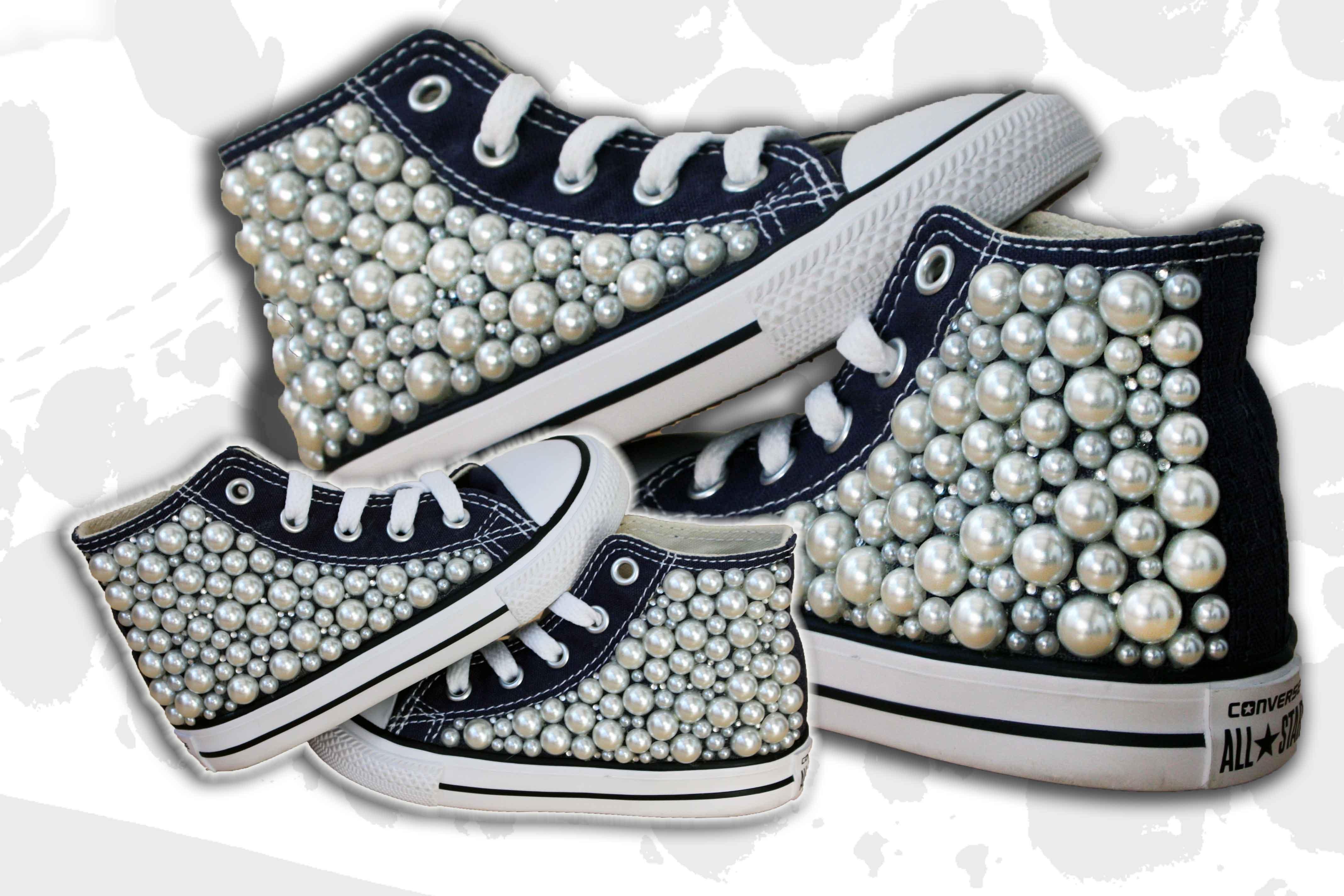 scarpe bimba con perle