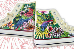 all star colorate dipinte a mano