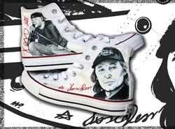 scarpe alte personalizzate con Vasco