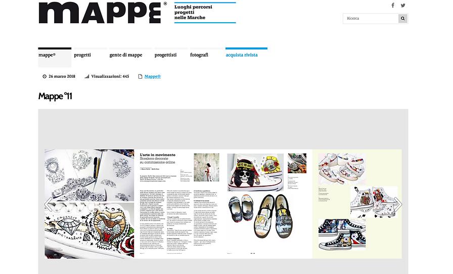 articolo di Mappe su scarpe personalizzate mapet