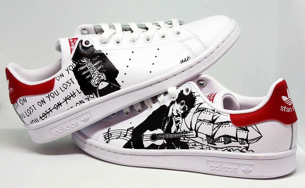 Scarpe Smith Dipinte A Adidas PersonalizzatePelle Mano Stan qzSUVpM