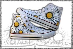all star personalizzate con fiori