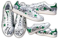 Stan smith personalizzata verde